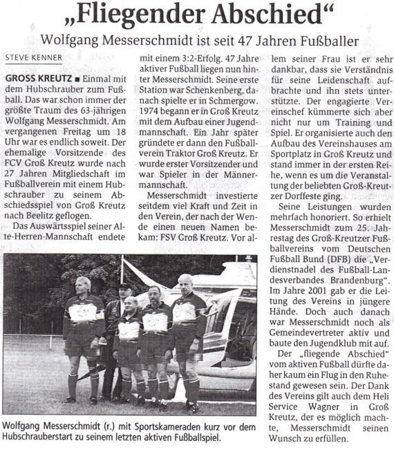 Zeitungsartikel WM